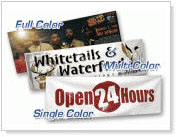 Vinyl banners, Full color banners.